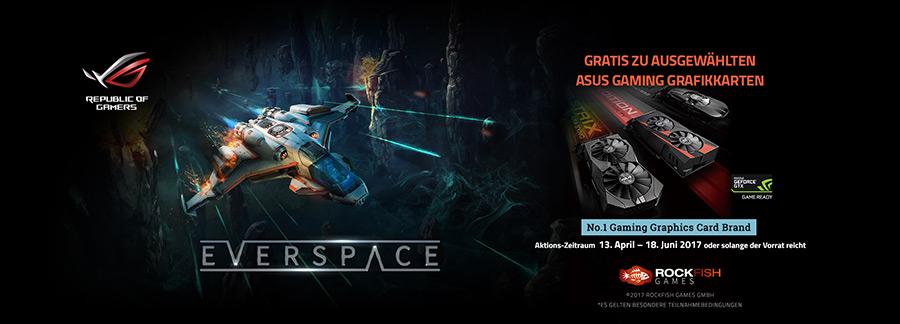 Sicher dir Everspace kostenlos zu ausgewählten ASUS Gaming Grafikkarten